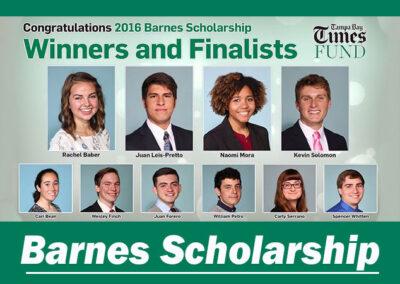 Barnes Scholarship Recap 2016